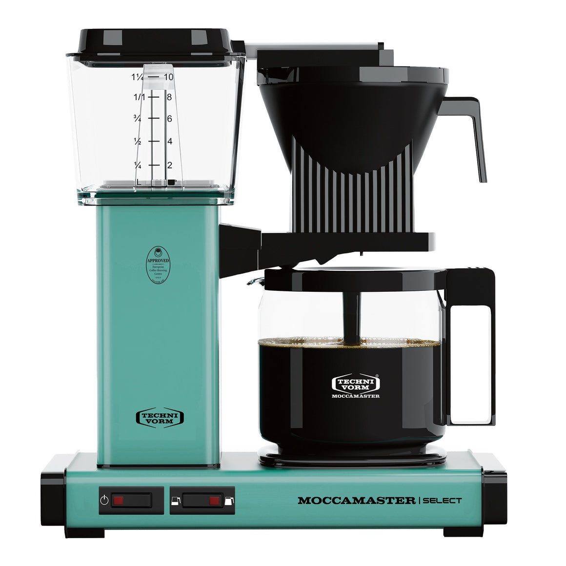 Moccamaster KBG Select Filter machine - Turquoise (with glass flask)