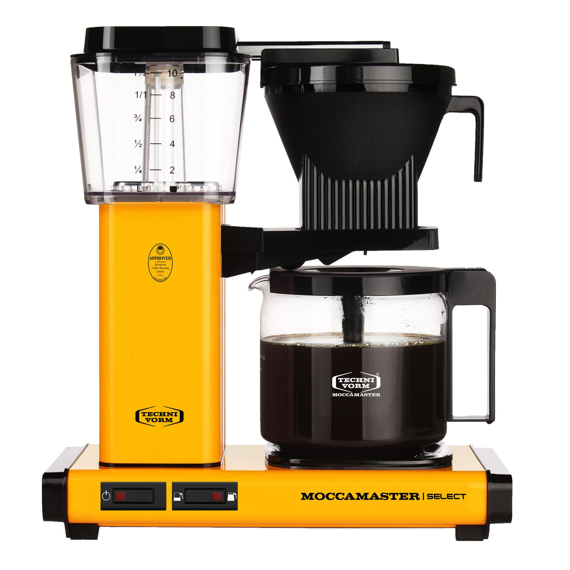 Moccamaster KBG Select Filter machine - Yellow Pepper (with glass flask)