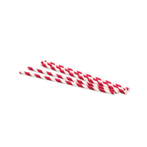 Red Stripe Paper Straws 250