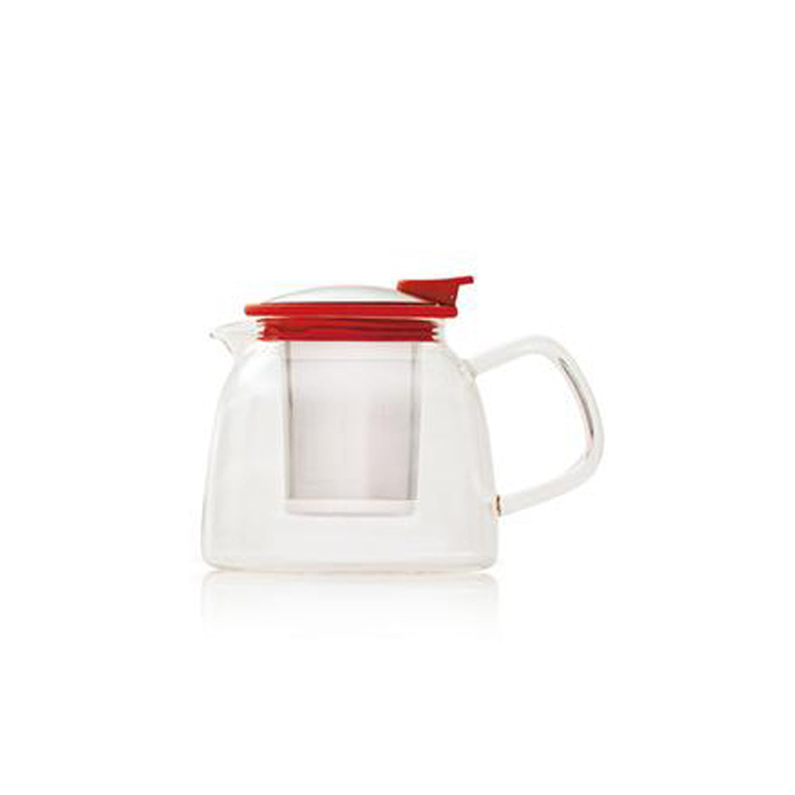 Red Glass Teapot 14oz