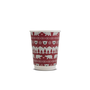 Vegware Compostable Christmas Cups (8oz, 12oz &16oz)