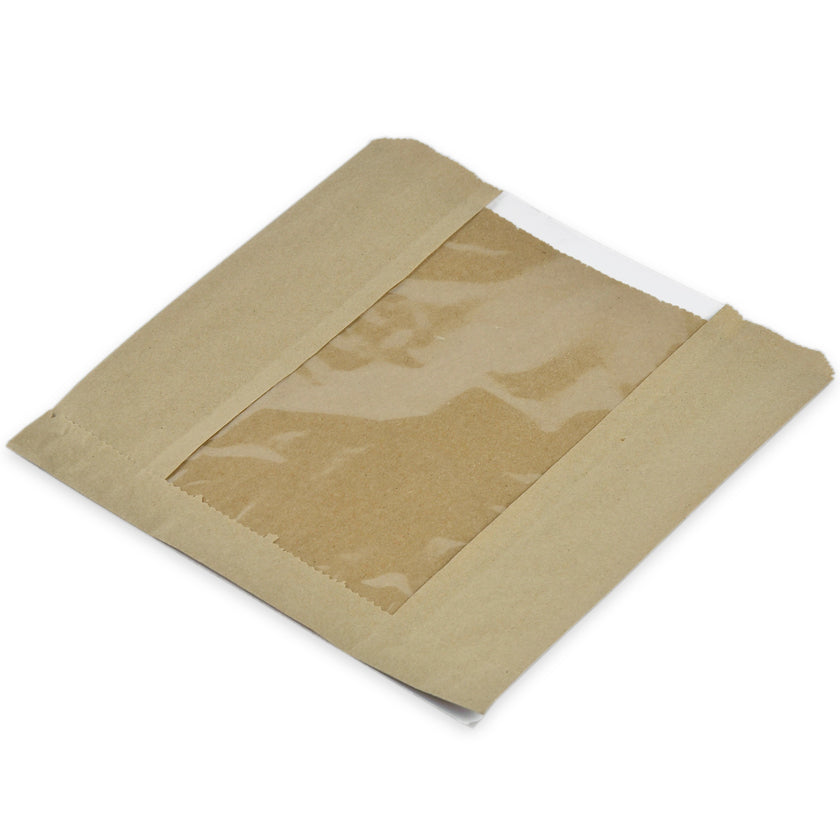 Vegware Kraft food bag - 8.5inx8.5in (1000 pack)