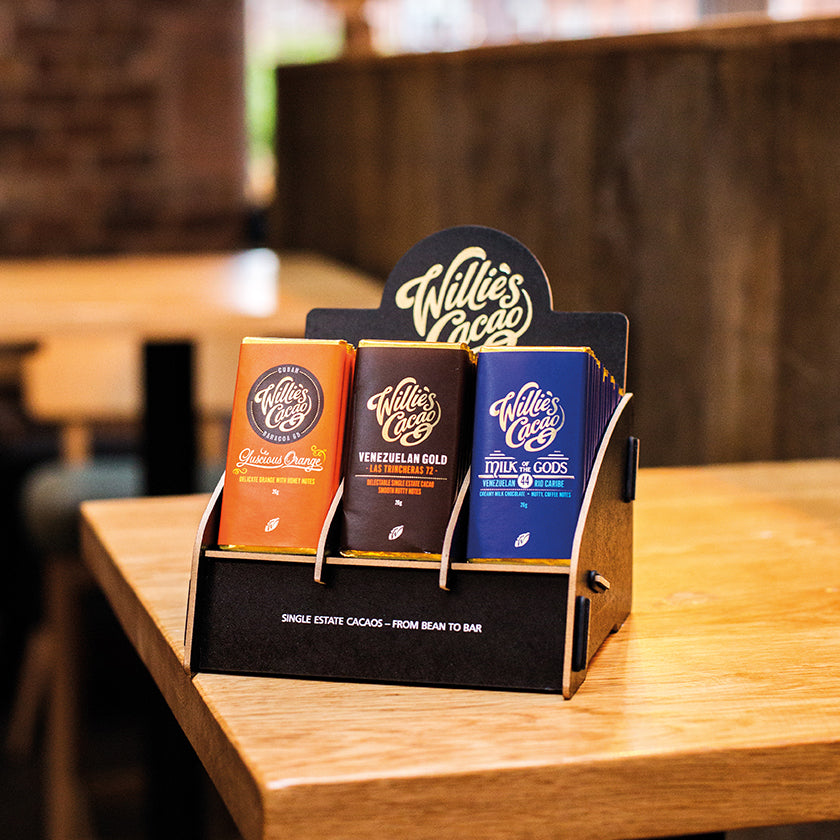 Willie's Cacao Retail Display Stand