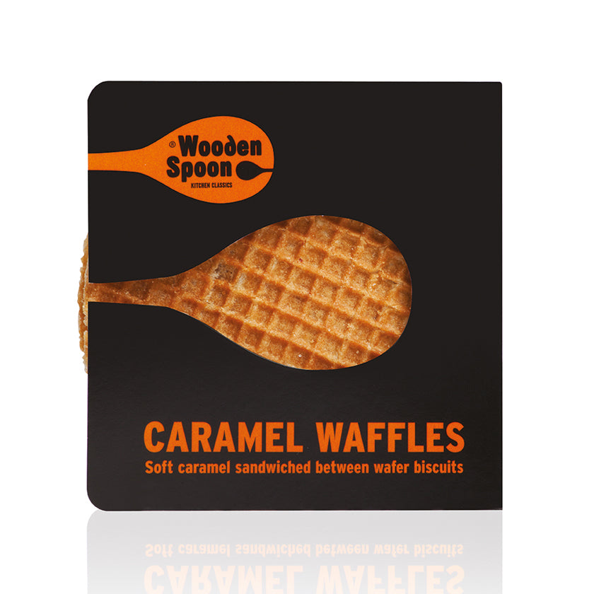 Wooden Spoon Caramel Waffles (60x65g Twin Packs) *BBE 25/08/2020* SHORT SHELF LIFE