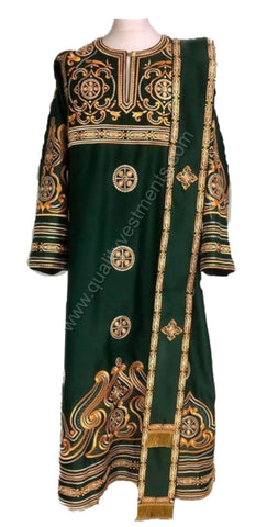 Green vestments for Deacon Embroidered LIGHTWEIGHT or any other color TO ORDER