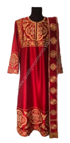 RED vestment for Deacon Embroidered LIGHTWEIGHT or any other color to order