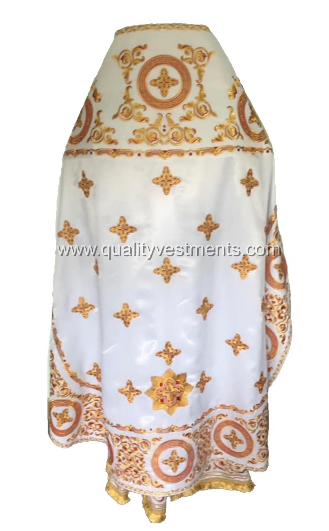 White Priest's Vestment FULLY Embroidered Russian Style any color TO ORDER