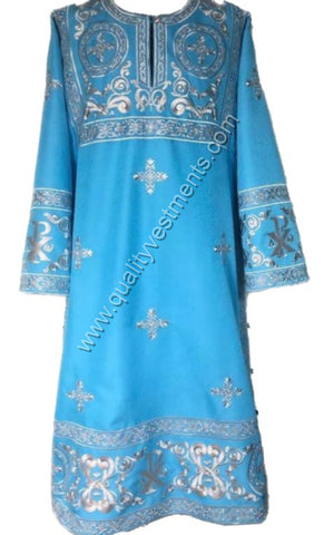 Blue vestment for Deacon Embroidered LIGHTWEIGHT or any other color TO ORDER