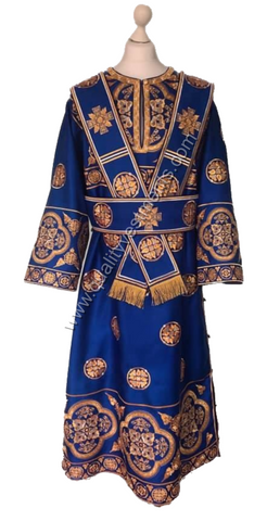 Blue SubDeacon's Deacons vestments Embroidered LIGHTWEIGHT or any color TO ORDER