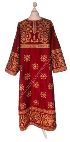 RED Deacon vestment Embroidered LIGHTWEIGHT or any other color TO ORDER