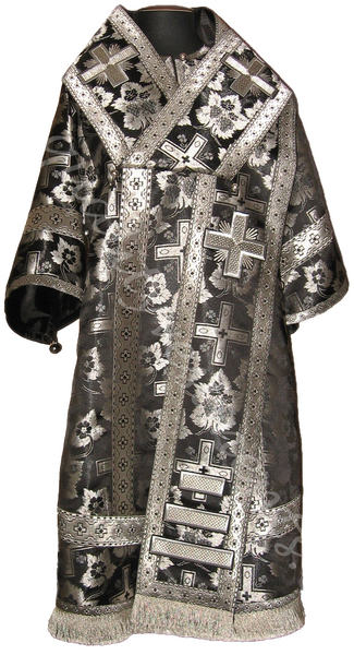 Orthodox Bishop's vestments Metallic brocade black silver or any color