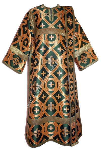 Green Deacon's Vestments Metallic Brocade Lined TO ORDER.