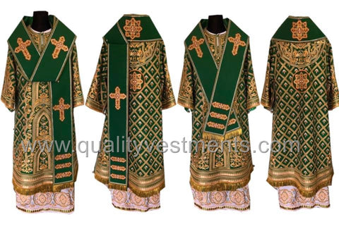 Green Bishop's Vestments Fully EMBROIDERED other colors available LIGHTWEIGHT