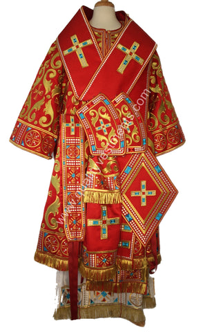 RED Bishop's Vestments Embroidered Lightweight GORGEOUS! TO ORDER