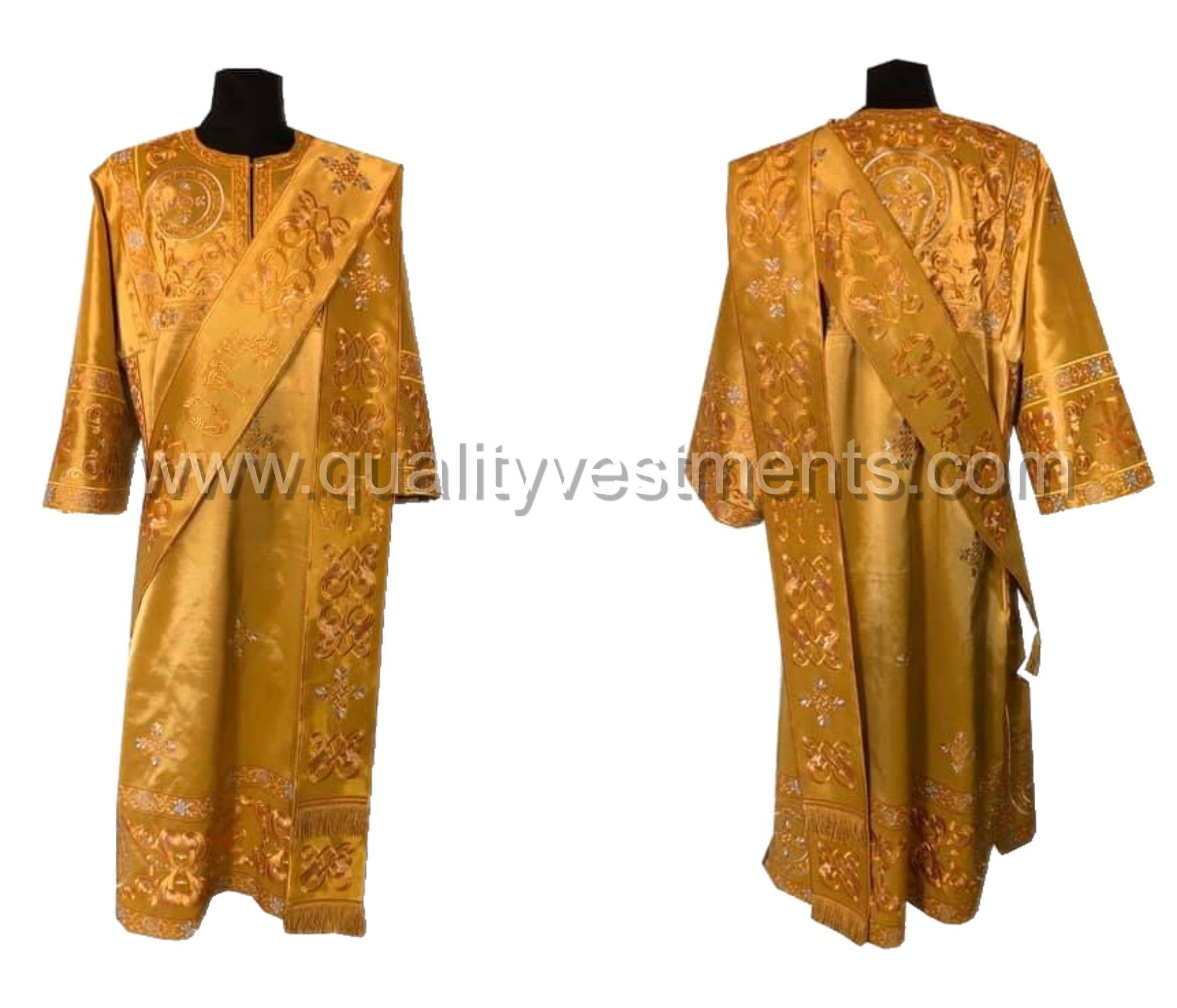 Gold ProtoDeacon's Embroidered vestment LIGHTWEIGHT TO ORDER