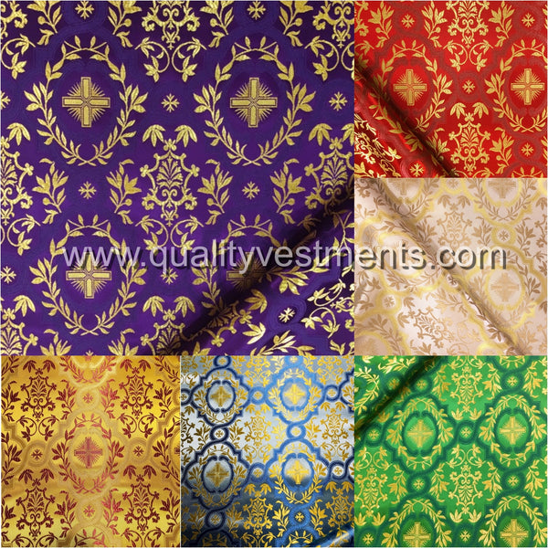 "Vestment rayon EXTRA WIDE 79"" 2 m wide lightweight Gold Red Green Blue White etc"