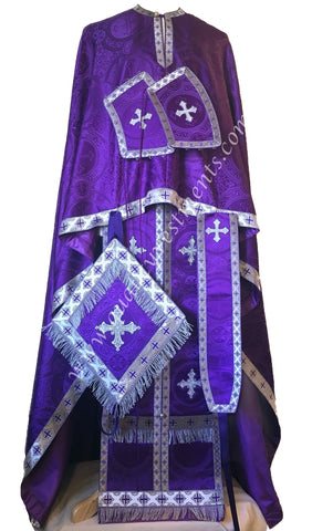 Purple Priest's Vestments Orthodox Greek Style Nonmetallic brocade TO ORDER!