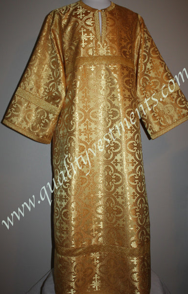 Gold on Gold Nonmetallic Altar Server Reader Acolyte Robe Orthodox Vestment – To Order