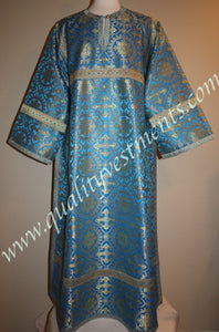 Blue Gold Metallic Altar Server Reader Acolyte Robe Orthodox Vestment – To Order