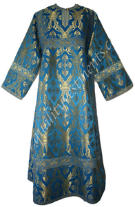 Blue Stikhar Reader Acolyte Robe Nonmetallic Adult size Crown pattern TO ORDER