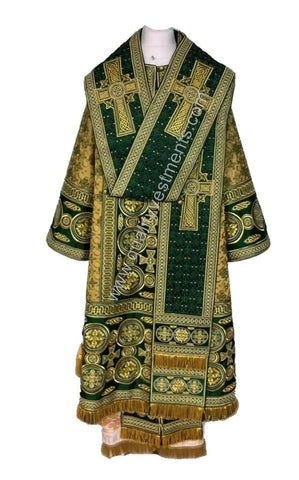 Green Bishop's Vestments LIGHTWEIGHT fabric Fully EMBROIDERED other colors avail