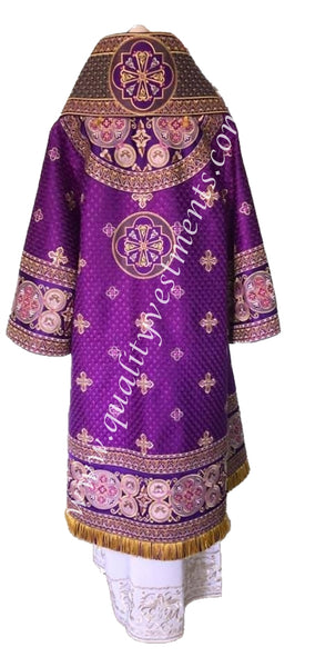 Purple Bishop's Vestments lightweight fabric EMBROIDERED TO ORDER