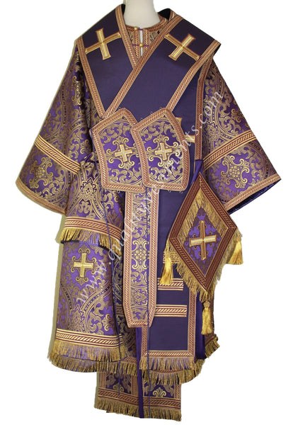 Purple Orthodox Bishop's Vestments Metallic Brocade with stikhar TO ORDER!