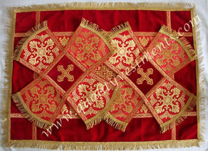 Red Veils Red Chalice Covers Veils 3 pc set SHIPS FROM USA!