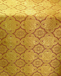 Church Liturgical Vestments Brocade Gold by yard