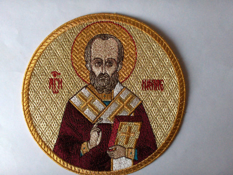 Church Liturgical Embroidered Icon St.Nicholas  5 1/4