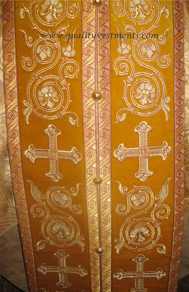 Communion Priest Set Stole Cuffs Orthodox Vestment