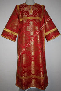 TO ORDER!!  Reader Acolyte Altar Server Robe Red Gold Nonmetallic Brocade