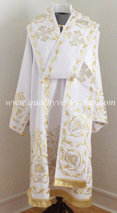 Orthodox Bishop's Vestments White Embroidered in Gold or any color