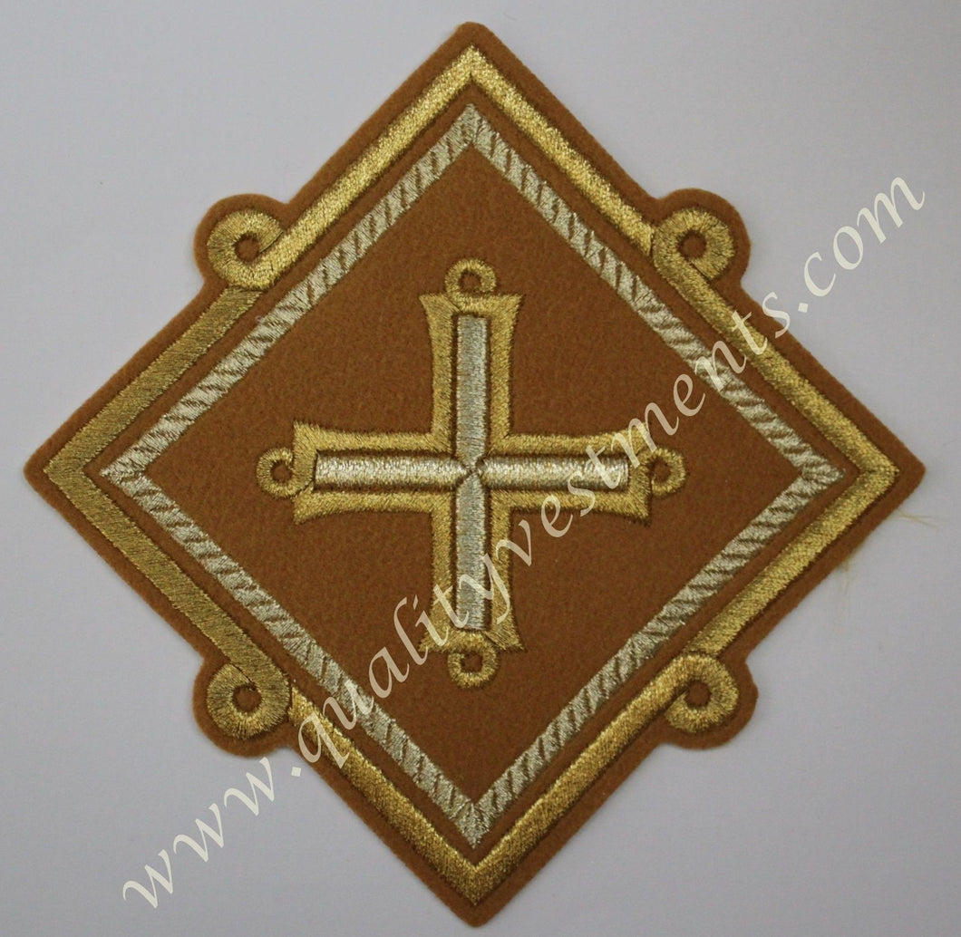 Star Liturgical Embroidered Mustard Gold 6 1/4