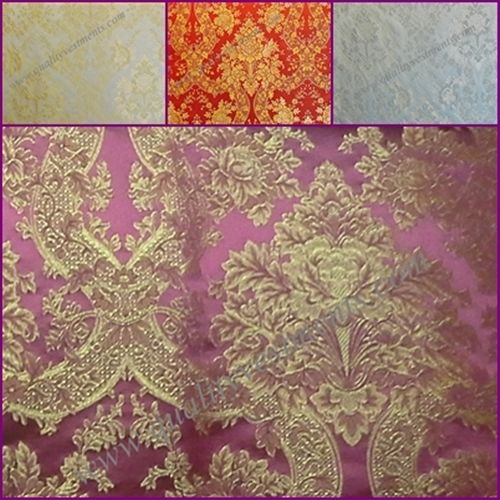 "Church Liturgical Vestment GREEK  Brocade  by yard  ""Lace"""