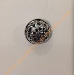 "Metal buttons Silver or Gold 5/8"" (1.6 cm) Diam."