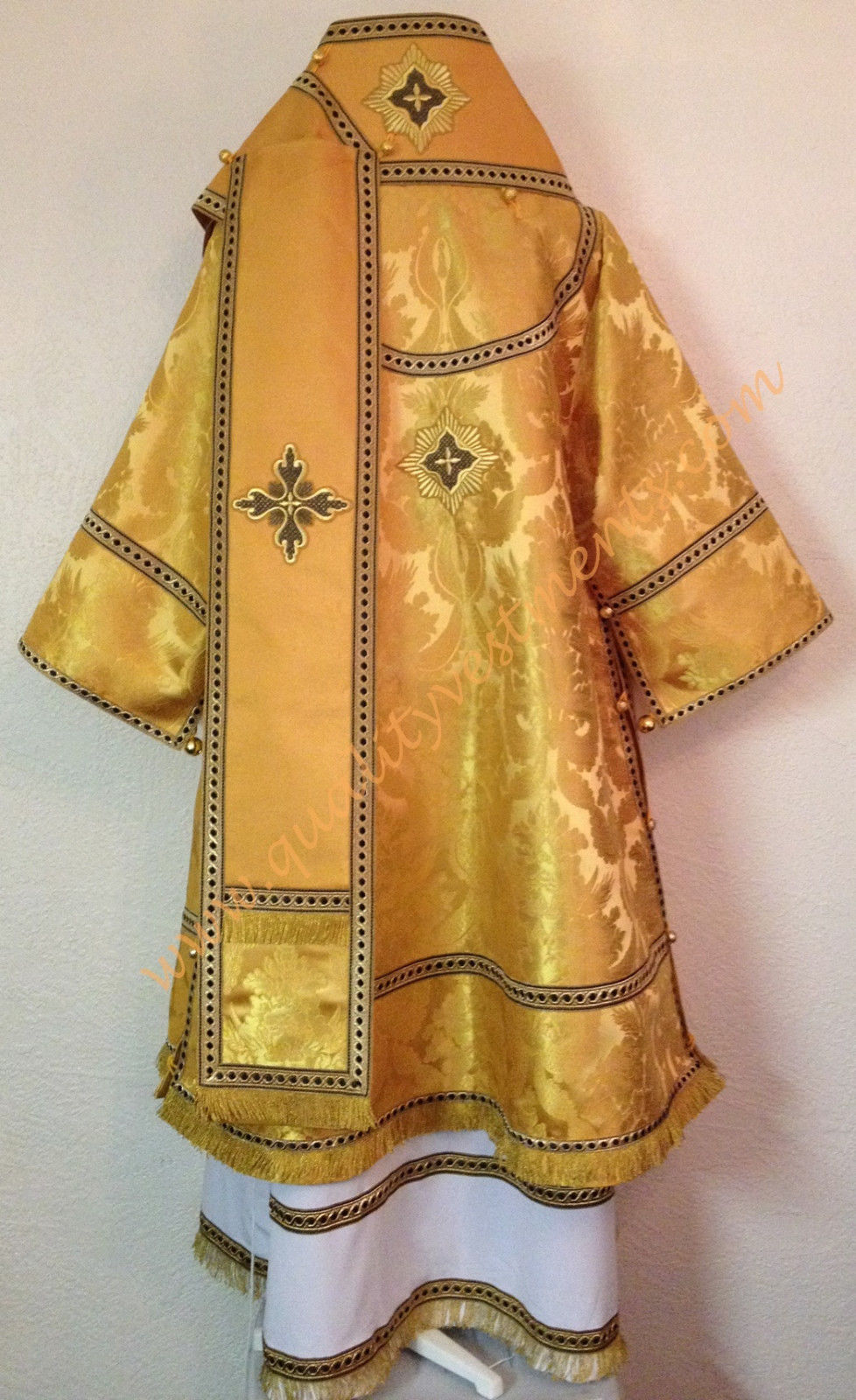 Orthodox Bishop's Vestments Metallic Brocade Gold, Black TO ORDER