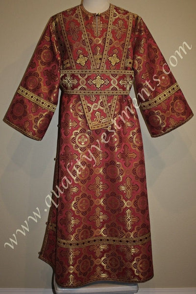 Subdeacon Ipodiacon Russian Orthodox Vestment Red Gold Metallic Brocade