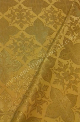 Church Liturgical Vestment Metallic Brocade Fabric Gold