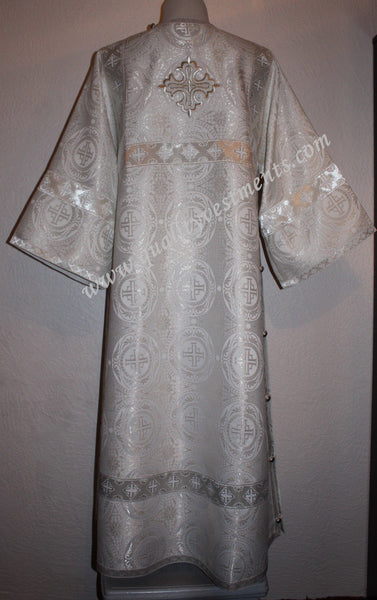 TO ORDER Deacon Russian Orthodox Vestment Metallic White Silver