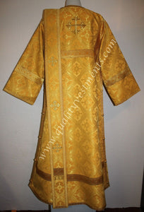 TO ORDER Deacon Russian Orthodox Vestment Metallic Brocade Gold