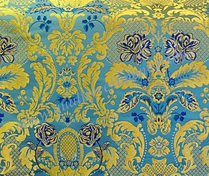 Liturgical Fabric  Brocade Metallic Gold Red Blue Purple etc