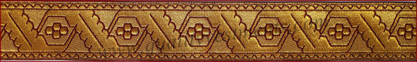 "Church Religious Vestment Galloon Trim ""Oak leaf""  5/8""  (1.7cm) many colors"