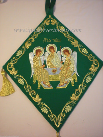 Palitsa Epigonation Shield Embroidered Holy Trinity