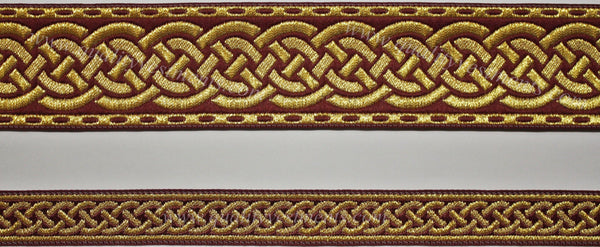 "Church Liturgical Jacquard Vestment Galloon Trim ""Braid"" 1 5/8"" (4 cm) width"