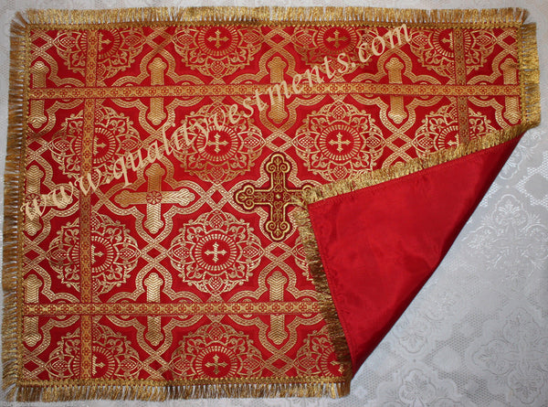 Red Aer Communion Chalice Covers Veils 3 pc set READY To SHIP from USA!
