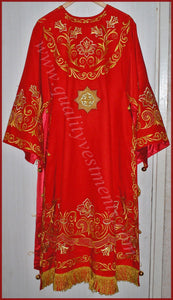 Orthodox Bishop's Embroidered Vestment LIGHTWEIGHT red or any color