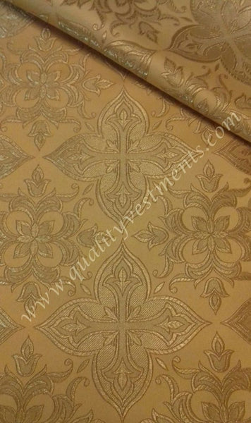 "Church Liturgical Vestment Metallic Brocade Fabric Gold ""Vera""  59"" w"