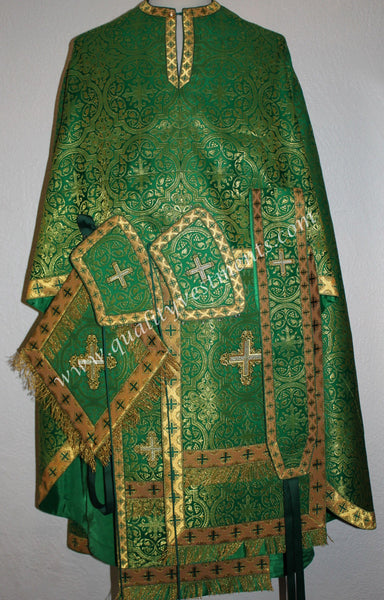 TO ORDER!! Priest Orthodox Vestment Greek Style Green and Gold Brocade