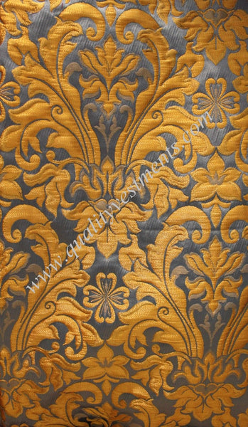 Church Liturgical Vestment Ecclesiastical Clerical Brocade Material Gold Blue